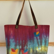 Autumn-Splendor-Leather-Handle-Linen-Tote-11