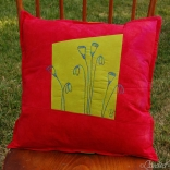 Red-Chartreuse-Poppies-Botanical-Sketch-Pillow-2