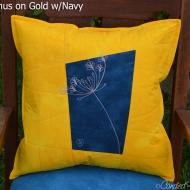 Gold-Navy-Agapanthus-Botanical-Sketch-Pillow-2