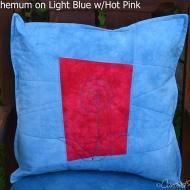 Light-blue-pink-mum-Botanical-Sketch-Pillow