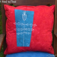 Red-Teal-Thistle-Jewel-Tone-Botanical-Sketch-Pillow-2