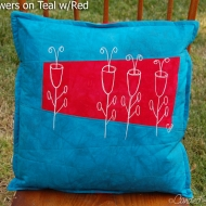 Teal-Red-Alien-Botanical-Sketch-Pillow-3