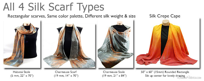 silk scarves candied fabrics shop