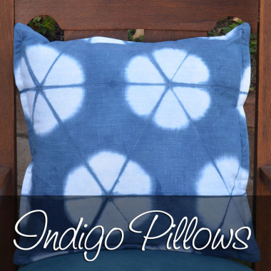 Linen Indigo Shibori Pillows