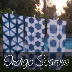 Indigo Dyed Scarves