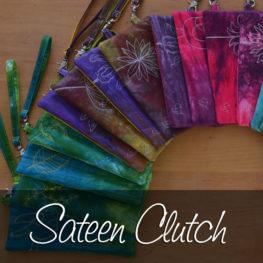 Cotton Sateen Clutches