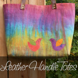 Leather Handle Linen Totes